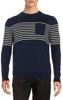 Black Brown 1826 Striped Pocket Sweater