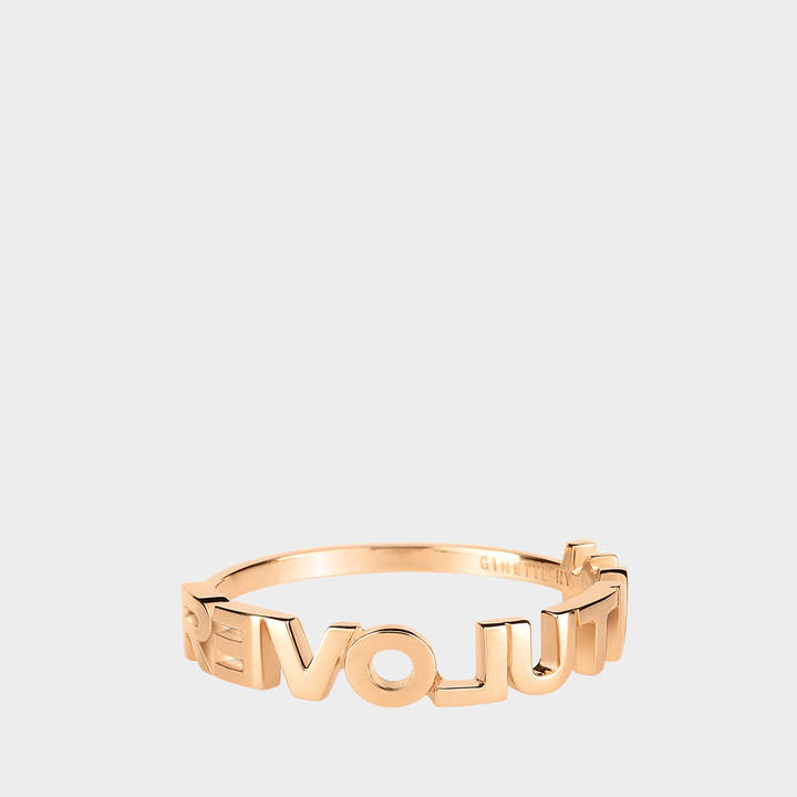 ginette_ny Fairy Revolution Ring in 18K Rose Gold