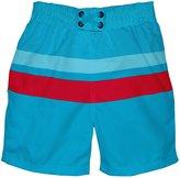 I Play Ultimate Swim Diaper Block Boardshorts (Baby/Toddler) - Aqua-S (6M)