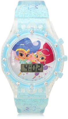 SHIMMER AND SHINE Shimmer And Shine Girls Digital Blue Strap Watch-Sns4084jc