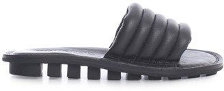 Trippen Leather Slippers W/padded Strap