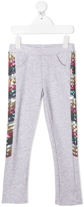 Billieblush Sequin-Detail Casual Trousers