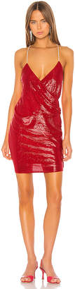 Mason by Michelle Mason Mini Dress with Crystal Straps