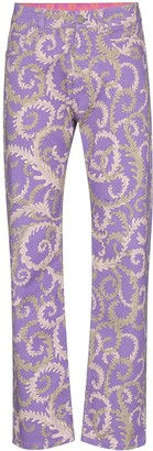 Emilio Pucci x KOCHE Selva-print jeans