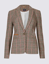M&S Collection Checked Jacket