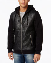 GUESS Men's Roy Chevron Quilted Hooded Jacket