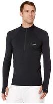 Columbia Midweight Stretch Long Sleeve Half Zip Top (Black) Men's Long Sleeve Pullover