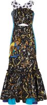 Peter Pilotto Taffeta Jacquard Macram Dress