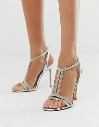 Aldo Dovyan embellished heeled sandals in silver
