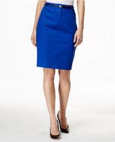 Calvin Klein Belted Straight Skirt