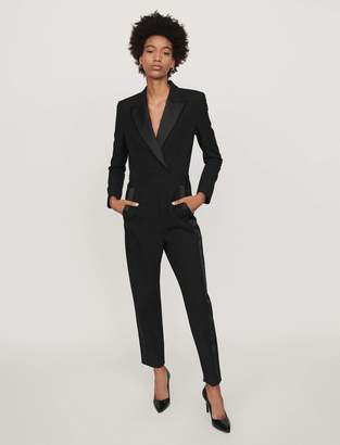 Maje Tuxedo-style jumpsuit