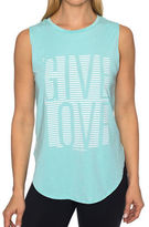 Betsey Johnson Give Love Stripe High Low Muscle Tank