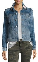 Hudson The Classic Denim Jacket with Rose Embroidery, Indigo