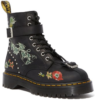 Dr. Martens Gomez Floral Embroidered Combat Boot