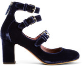 Tabitha Simmons Ginger Velvet Pumps - Navy