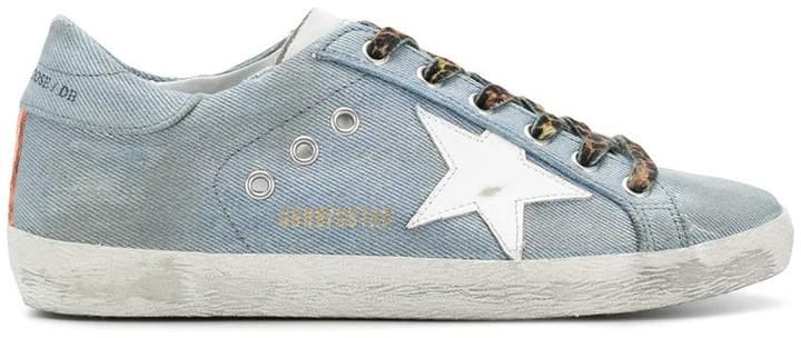 Golden Goose Superstar denim sneakers