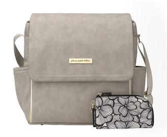 Petunia Pickle Bottom Boxy Backpack Leatherette Grey Matte