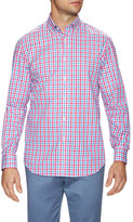 James Tattersall Plaid Dress Shirt