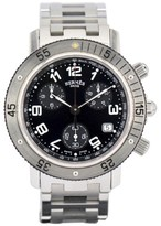 Hermes Clipper Divers CL2.910 Stainless Steel Black Dial Quartz 38mm Men