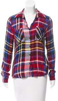 L'Agence Plaid Button-Up Top