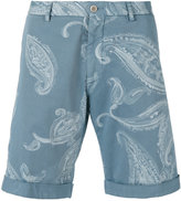 Etro paisley print chino shorts - men - Cotton/Spandex/Elastane - 48