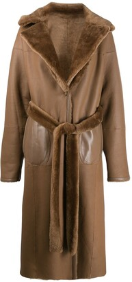 Liska Fur-Trimmed Trench Coat