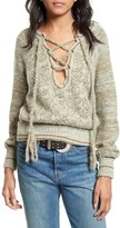 Free People Women's Lace-Up Sweater