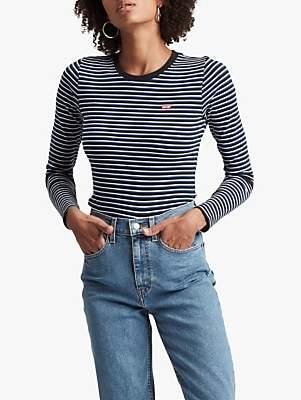 Levi's Baby Stripe Long Sleeve T-Shirt, Koronis Meterorite