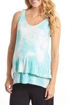 Everly Grey Women's Val Tiered Maternity/nursing Tank