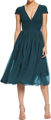Dress the Population Corey Chiffon Fit & Flare Cocktail Dress