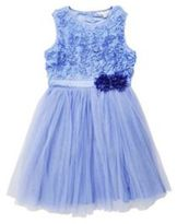 Yumi Girl Textured Rose Tulle Dress