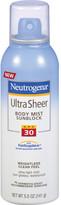 Neutrogena Ultra Sheer Body Mist Sunblock SPF 30