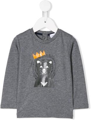 Emporio Armani Kids king bear T-shirt
