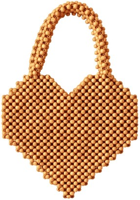 Hati Heart Wood-Beaded Tote Bag