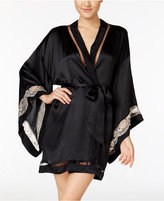 Calvin Klein Black Collection Embrace Lace-Band Kimono Robe QS5554