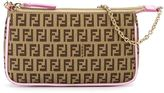 Fendi monogram embellished shoulder bag
