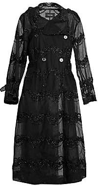 Simone Rocha Women's Beaded Tulle Trench Coat