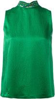 L'Autre Chose embellished high neck sleeveless top - women - Silk/PVC/glass - 46