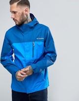 Columbia Pouring Adventure Jacket Hooded Waterproof 2 Tone