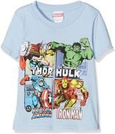 Marvel Boy's Super Heroes Squares Short Sleeve T-Shirt,(Manufacturer Size:Large)