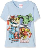 Marvel Boy's Super Heroes Squares Short Sleeve T-Shirt,(Manufacturer Size:Small)