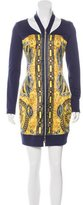 Versace Cutout Zip-Up Dress w/ Tags