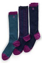 Classic Women's Seamless Trouser Socks (3-pack)-Regiment Navy