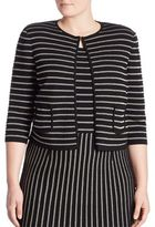 Stizzoli, Plus Size Zigzag Striped Cardigan