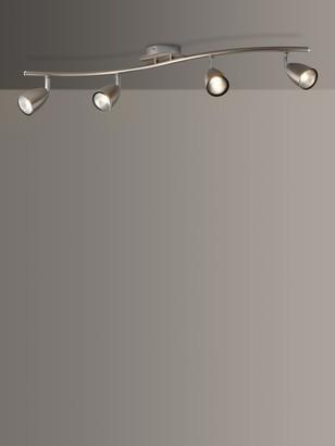 John Lewis & Partners Thea GU10 LED 4 Spotlight Ceiling Bar