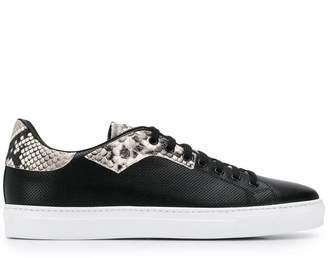 Roberto Cavalli embossed detail sneakers
