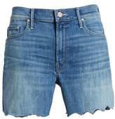 Mother The Sinner Fray Denim Shorts