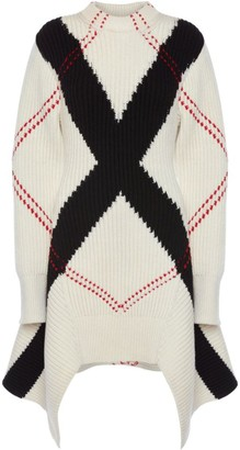 Alexander McQueen Intarsia Knit Sweater Dress