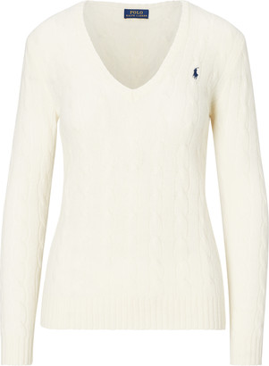 Ralph Lauren Cable Wool-Cashmere Sweater