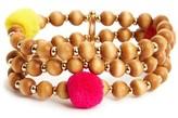 BaubleBar Women's Grenada Pompom Stretch Bracelet